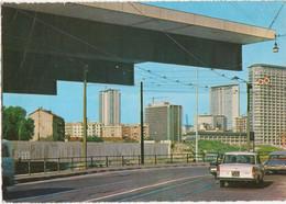 MILANO - GRATTACIELI CENTRO DIREZIONALE DALLA STAZIONE PORTA GARIBALDI - AUTO D'EPOCA CAR CITROEN DS SQUALO- VIAG. 1966 - Milano (Milan)