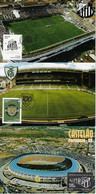 Brazil 2012/2014 3 Maximum Card Sport Soccer Football Teams Santos America And Ceara Stadium Postcard - Clubs Mythiques