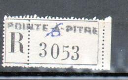 Erinophilie, Vignette De Recommandation, Pointe A Pitre ( Guadeloupe) - Autres