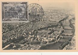 France Carte Maximum Du Poste Aérienne N° 29 Vue De Paris Du 18 05 1950 - 1950-59
