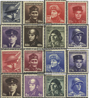 Czechoslovakia 439-454 (complete Issue) Unmounted Mint / Never Hinged 1945 Fallen Soldiers - Nuovi