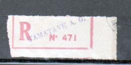 Erinophilie, Vignette De Recommandation, Tamatave A. G. ( Madagascar) - Autres