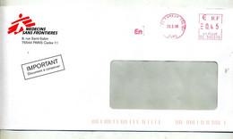 Lettre Flamme Ema Evreux Ctc  Nombre Entete Medecin Sans Frontiere - EMA (Printer Machine)
