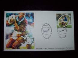 FRANCE 1999_Enveloppe 1er Jour_Numismastique Française_Coupe Du Monde De Rugby Oblit. PJ93 Saint-Denis 11/09/1999. - 1990-1999