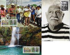 Brazil 2014 3 Maximum Card Dorival Caymmi Singer Kalunga Community Music Musical Instrument - Musica