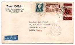 Brésil--1961--lettre De RIO DE JANEIRO Pour St DENIS (France)..timbres,cachets..David El Daher - Cartas