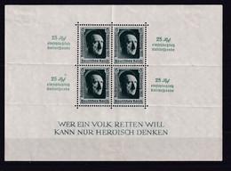 REICH - 1937 - BLOC YVERT N° 11 * MH -  COTE = 90 EURO - - Blocks & Sheetlets