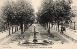 03 MONTLUCON L'AVENUE DE LA GARE - Montlucon