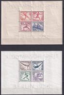 REICH - JEUX OLYMPIQUES 1936 - BLOC YVERT N° 4/5 ** MNH -  COTE = 275 EURO - - Blocks & Sheetlets