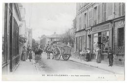 Cpa: 92 BOIS COLOMBES (ar. Nanterre) Rue Lecomte (Boulangerie, Attelage) 1911  N° 30  Ed. H.S.A. (rare) - Colombes