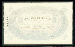 515-Billet De Fantaisie Tunisie 500fr 1924 - Specimen