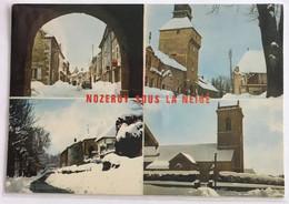 39  Nozeroy Sous La Neige 1973 4 Vues Tour De L Horloge Grand Rue Eglise De Miege - Sonstige Gemeinden