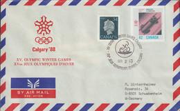 Canada Cover 1988 Calgary Olympic Games (G122-10) - Winter 1988: Calgary