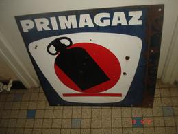 Plaque Emaillée Double Face PRIMAGAZ  55 X 55 - Autres