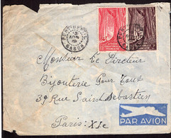 Afrique Ecuatoriale Francaise - Circa 1950 - Letter - Air Mail - Envoye En France - A1RR2 - Covers & Documents