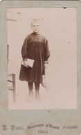 """SAINT-NAZAIRE   -   Carte De Visite D'un Ecolier En 1905  - Photographe """" E. PAUL """" - Voir Description - Saint Nazaire"""