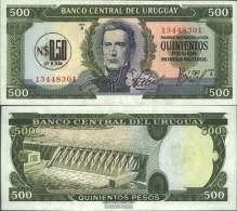 Uruguay Pick-number: 54 Uncirculated 1975 0.50 Nuevo Peso On 500 Pesos - Uruguay