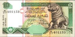 Sri Lanka Pick-number: 108a Uncirculated 1995 10 Rupees - Sri Lanka