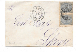 Denmark - Small Cover - Nykjøbing I Jyll. 6.4. 4. Post - No. 48 (Nykøbing M.) To Skive - Covers & Documents