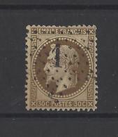 FRANCE.  YT   N° 30  Obl  1867 - 1863-1870 Napoléon III Con Laureles