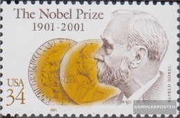 U.S. 3444 (complete Issue) Unmounted Mint / Never Hinged 2001 Nobel Prize - Nuovi