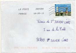 N° 4734 Y. Et T. Oblitération Toshiba TSC 1000 38909A (Migné Auxances Poitiers PIC) Flamme Muette Du 18/05/2013 - 1961-....