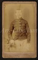 Photo-carte De Visite / Photo / CDV / Militaire / Soldat / Soldier / Soldaat / 2 Scans / Ch. De Trez Et Simon / Brugge - Oud (voor 1900)