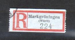 Erinophilie, Vignette De Recommandation, Markgröningen, Wurtt - Autres