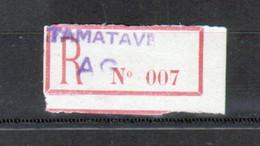 Erinophilie, Vignette De Recommandation, Tamatave - Autres