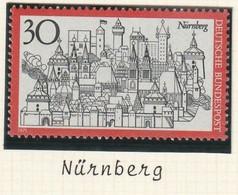 E 376) BRD 1971 Mi# 678 **: Fremdenverkehr Nürnberg, Historischer Stadtkern - Otros