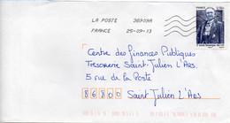 N° 4793 Y. Et T. Oblitération Toshiba TSC 1000 38909A (Migné Auxances Poitiers PIC) Flamme Muette Du 25/09/2013 - 1961-....