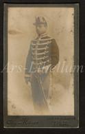 Photo-carte De Visite / Photo / CDV / Militaire / Soldat / Soldier / Soldaat / 2 Scans / Ch. Masse / Ieper / Ypres - Oud (voor 1900)