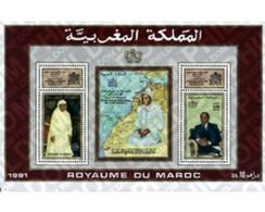 Ref. 53748 * MNH * - MOROCCO. 1991. 30TH ANNIVERSARY OF THE ENTHRONEMENT OF HASSAN II . 30 ANIVERSARIO DE LA ENTRONIZAC - Marocco (1956-...)