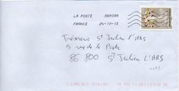 N° 4795 Y. Et T. Oblitération Toshiba TSC 1000 38909A (Migné Auxances Poitiers PIC) Flamme Muette Du 24/10/2013 - 1961-....