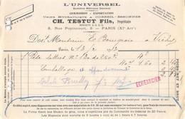 1913 L UNIVERSEL CH TESTUT FILS A PARIS - M. BOURGEOIS A VICHY  50-0044 - 1900 – 1949