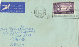 39057. Carta Aerea CAPETOWN (South Africa) 1952 To Nairobi, Kenya - Storia Postale