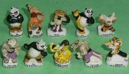 Série De Fèves Complète : Kung Fu Panda - Dessins Animés