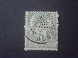 FRANCE TIMBRE SAGE 102 #2 SIGLE 2 TRIANGLE OEIL FRANC MACONNERIE PERFORE PERFORES PERFIN PERFINS PERFORIERT LOCHUNG - Perfins