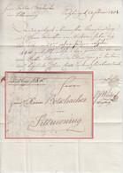 Österreich/Bayern - Salzburg 1801 Auslagenbrief (per Boten) N. Tittmoning - [1] Prephilately