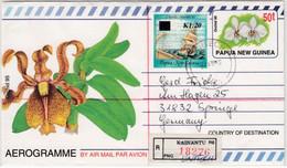 Papua New Guinea - 50t GA-Aerogramme + Zusatz/Lupo-Einschreibebrief Unitech 1995 - Papúa Nueva Guinea