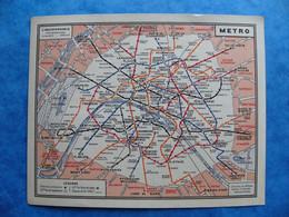 Calendrier 1953 Plan Du Métro Paris RATP Par L'ATC Association Touristique Des Cheminots ( SNCF Chemin De Fer ) - Small : 1941-60