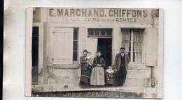 MARCILLY DEVANTURE MAGASIN E. MARCHAND CHIFFONS PEAUX CUIRS  CARTE PHOTO - Otros Municipios