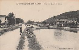 REF.AD1 . CPA . 52 . RACHECOURT-SUR-MARNE . PONT DU CANAL ET ECLUSE - Andere Gemeenten