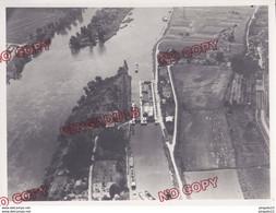 Fixe Seine écluse Barrage Péniche Prise Vue 18 Juil 1951 Photo Aérienne Aérotopographie Achères Yvelines - Barche