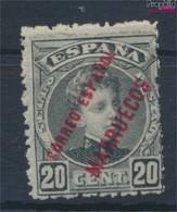 Spanische Post Marokko 10 Mit Falz 1906 Aufdruckausgabe (9527720 - Marocco Spagnolo