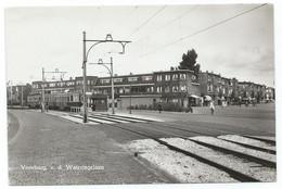 Voorburg Blauwe Tram Tramway V.d.Wateringelaan Koningin Wlihelminalaan Strassenbahn Leiden Den Haag NZH 1950's - Voorburg