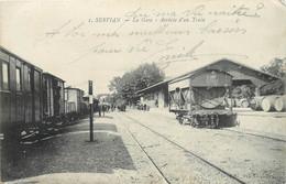 SERVIAN - La Gare, Arrivée D'un Train. - Gares - Sans Trains