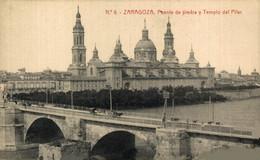 ZARAGOZA PUENTE DE PIEDRA Y TEMPLO DEL PILAR   ZARAGOZA ARAGON ESPAÑA ESPAGNE - Zaragoza