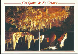 La Côte D'Azur , LES GROTTES DE SAINT CEZAIRE ( A.M. ) , Plafond Du Gouffre Et Détails ; Roof Of The Abyss And Détails - Otros Municipios