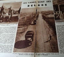 GUERRE..HOFSTADE..1945.. CEA YANKS SONT DES BELGES / VUE PANORAMIQUE DU CAMP D'HOFSTADE - Ohne Zuordnung